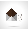 Open envelope flat color icon vector image