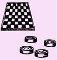 checkers Checkers board vector image