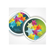 Stickers stars vector image vector image