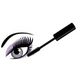 eye blue mascara vector image