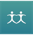 Connecting people as a heart - pair vector image