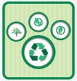 Eco friendly retro vector image