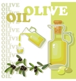 Glass bottle of premium virgin olive oil vector image