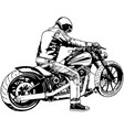 harley davidson and rider vector image