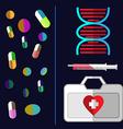 Healthcare medical flyer vector image