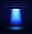 realistic detailed aliens spaceship or ufo vector image