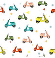 seamless pattern with scooter vector image