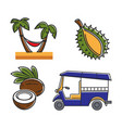 vacation in tropical country themed isolated vector image