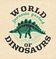 vintage poster of fossil bones of dinosaur big vector image