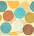 geometric flowers pattern vector image