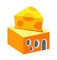 icon cheese shop vector image vector image