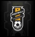football tournament logo vector image vector image
