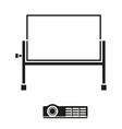 Portable Projector Screen Icon vector image
