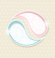 Blue and Pink Paisley frames vector image