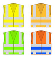 colorful safety jackets protective workwear for vector image