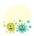 couple of virus germ bacteria microorganism vector image