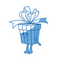 kawaii party gift box celebration birthday bow vector image