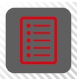 List Page Rounded Square Button vector image