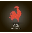 minimal fire red rooster vector image
