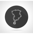 Necklace black round icon vector image