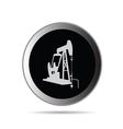 oil pump in circle symbol vector image