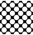 seamless polka dot pattern white dots on black vector image