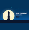time to travel travel to usa usa is waiting vector image