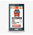 transport service delivery truck app vector image