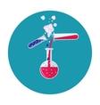 lab tube icon vector image