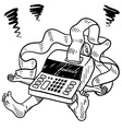 doodle squish taxes accounting vector image