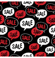 Black Friday Seamless pattern Speech Bubble with vector image