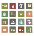 food and kitchen icon set vector image