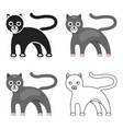panther icon cartoon singe animal icon from the vector image