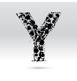 Letter Y formed by inkblots vector image