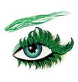 Spring eye vector image