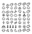 weather line icons set - big pack of 70 weather vector image