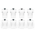 collection of polo shirts vector image vector image