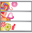 banners with candies vector image vector image