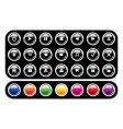 set of glossy icons vector image vector image