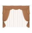 heavy beige curtains vector image