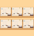 rows of prison cells vector image
