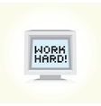 Work hard computer vector image