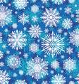 Seamless winter snowflakes vector image