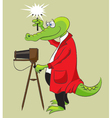 Crocodile photographer vector image