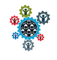 society and person interaction creative logo vector image