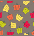 bell peppers stylized seamless pattern vector image