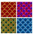circular brick pattern vector image