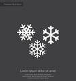snowflakes premium icon white on dark background vector image