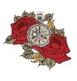 Rose Clock Retro vector image