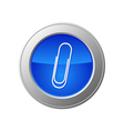 paperclip button vector image vector image